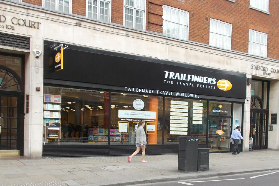 Trailfinders travel agent Kensington