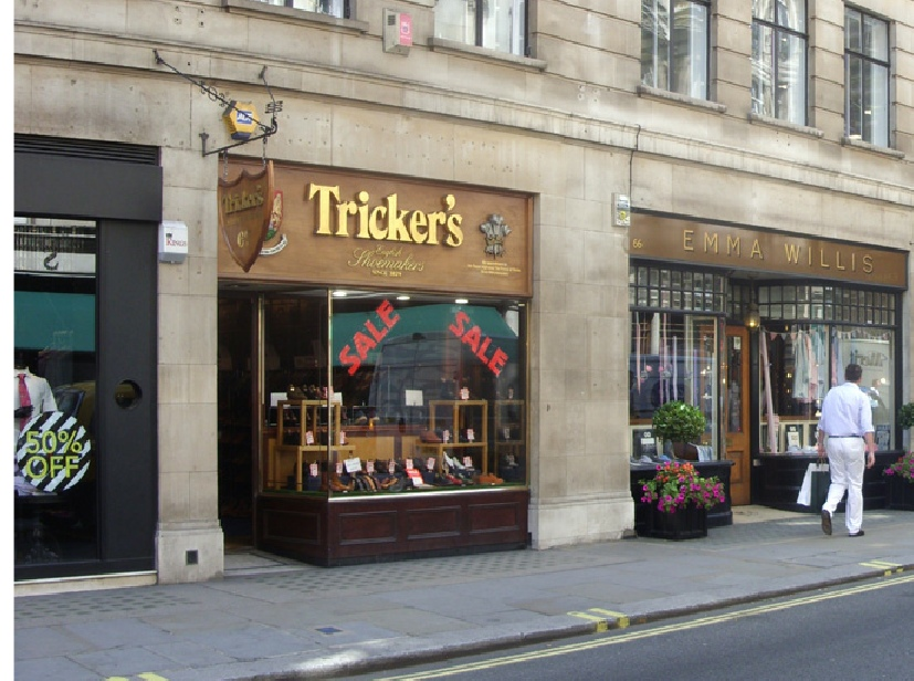 Tricker's shoe shop on London's Jermyn Street