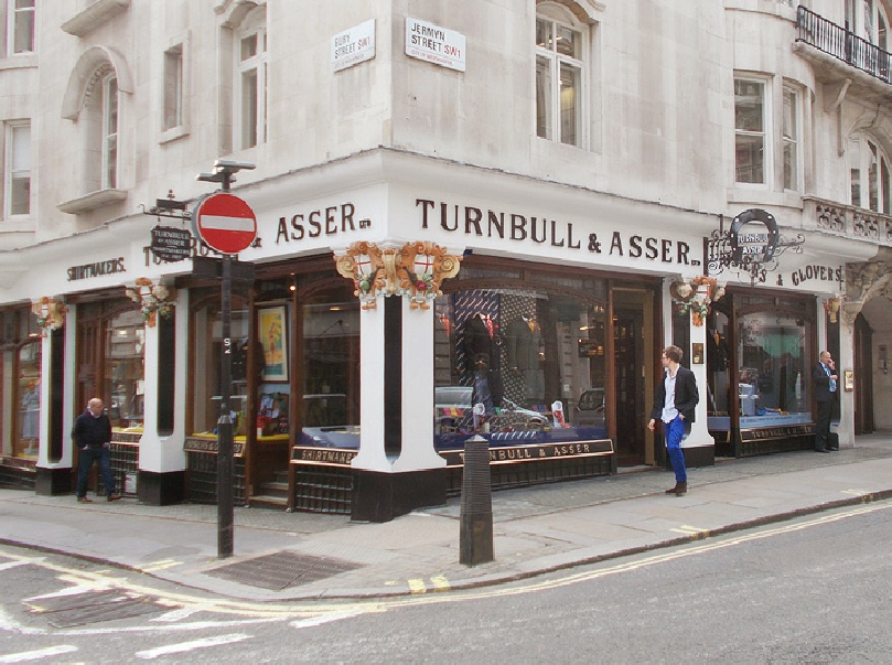 Turnbull and Asser menswear shop in London