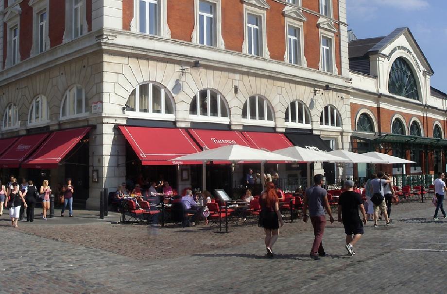 Tuttons restaurant in London's Covent Garden