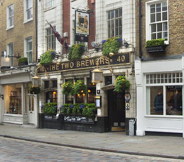 The Two Brewers pub in London's Covent Garden