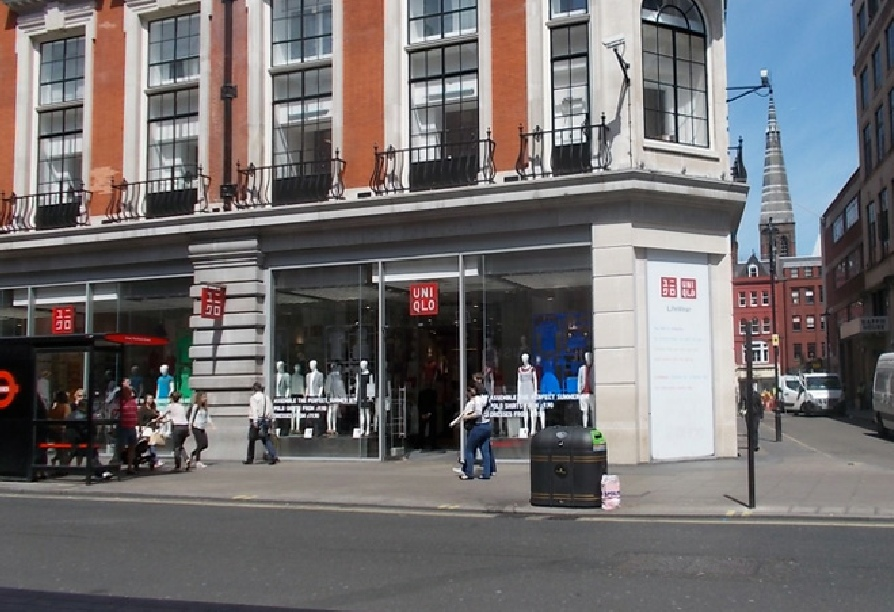 Uniqlo clothing shop on Oxford Street in London