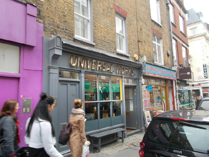 Universal Works menswear shop in London's Soho