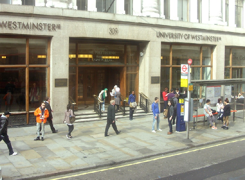 University of Westminster on London's Regent Street, near Oxford Circus
