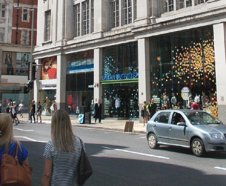 Urban Outfitters store in London's Kensington
