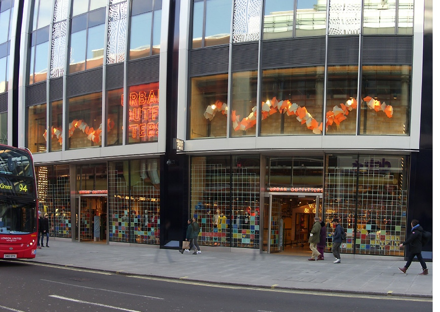 Urban Outfitters store at Marble Arch, on London's Oxford Street