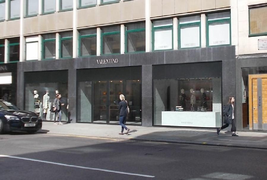 Valentino shop on Sloane Street in London's Knightsbridge.