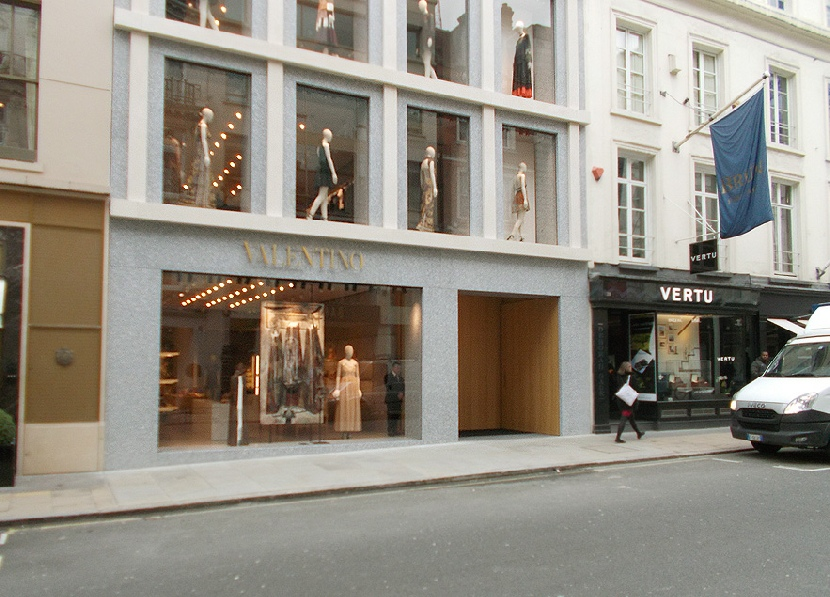 Valentino shop on Bond Street in London's Mayfair