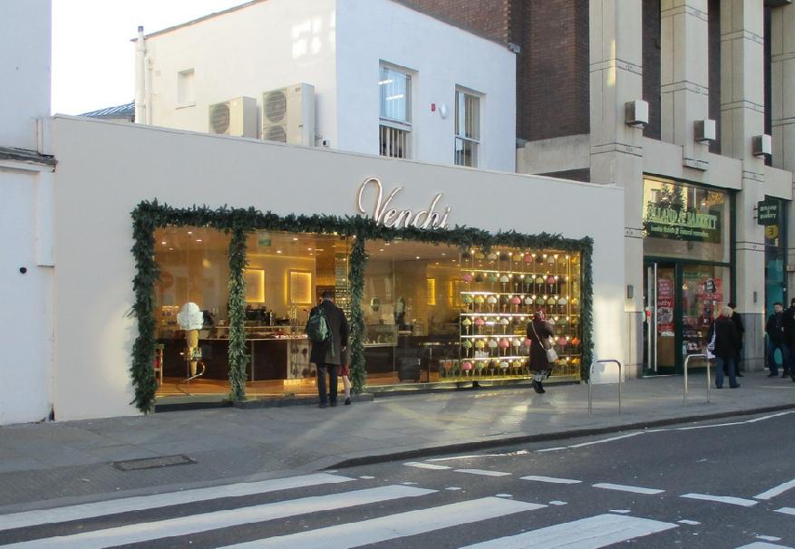 Venchi Italian chocolates and gelato shop in London's Chelsea