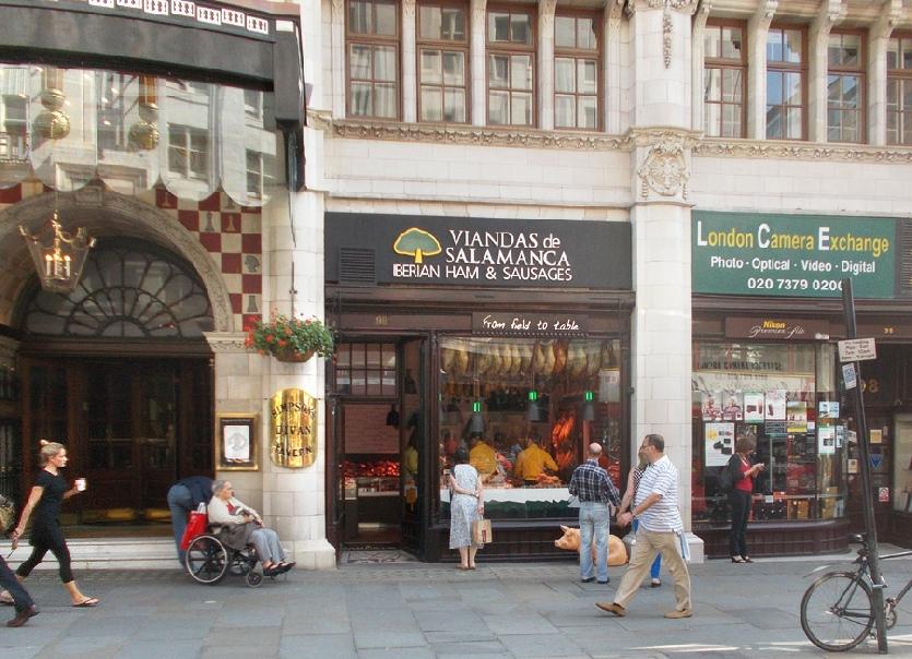 Viandas de Salamanca Spanish delicatessen on London's Strand