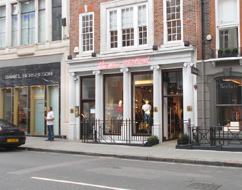 Vivienne Westwood womenswear shop in London's Mayfair