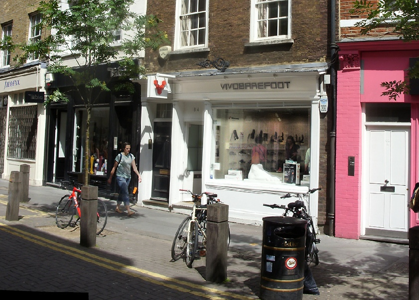 Vivo Barefoot shoe shop in London's Covent Garden
