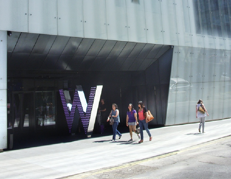 The W Hotel in Central London, near Leicester Square