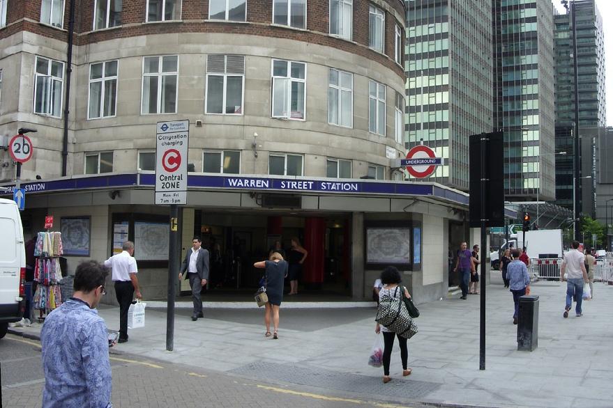 Warren Street underground station in London