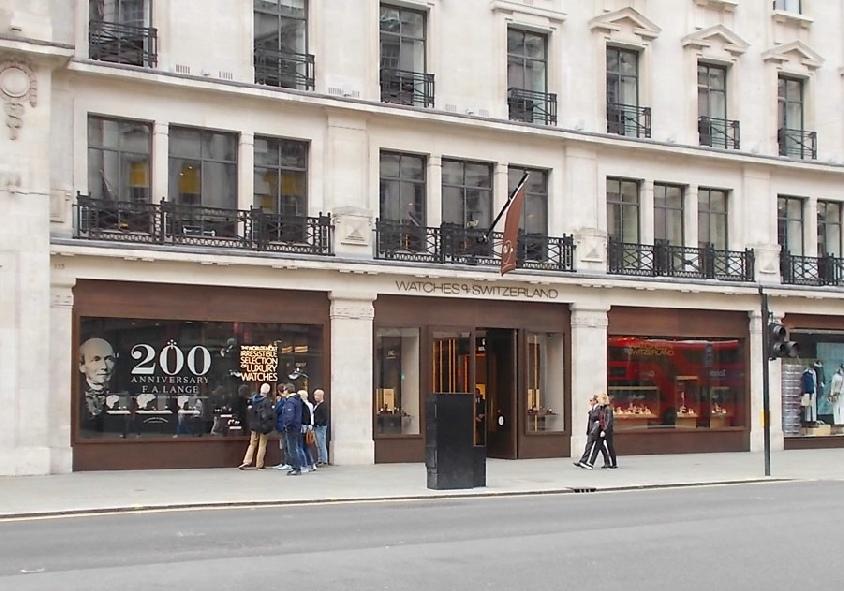 Watches of Switzerland shop on London's Regent Street