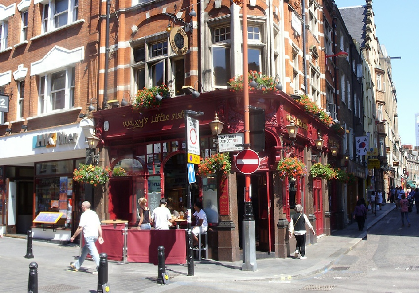 Waxy's Little Sister pub in London's Soho