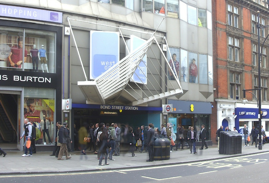 West One shopping centre and Bond Street station in London
