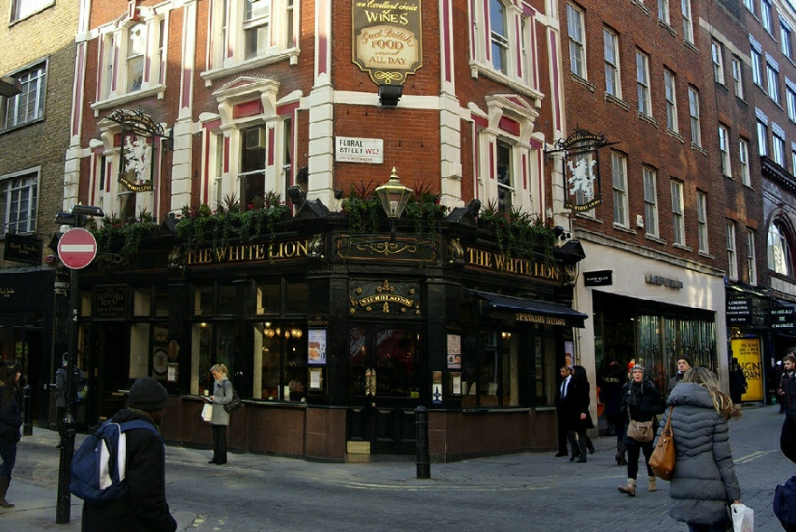 The White Lion pub in London's Covent Garden