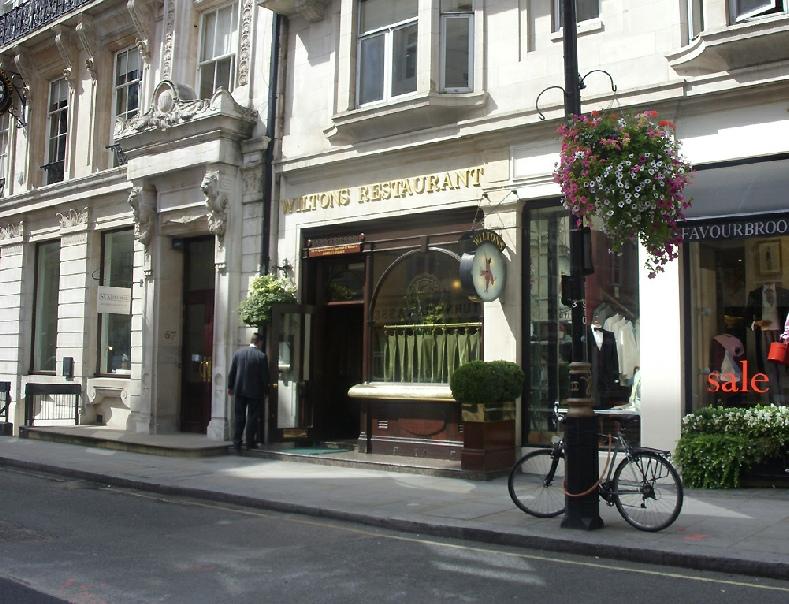 Wiltons Restaurant Jermyn Street