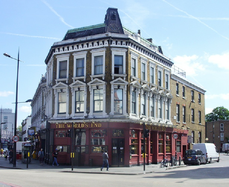 The World's End pub in London, near to Camden Town underground station.