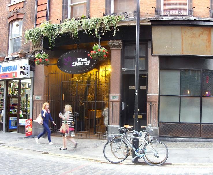 The Yard Bar on Rupert Street in London's Soho