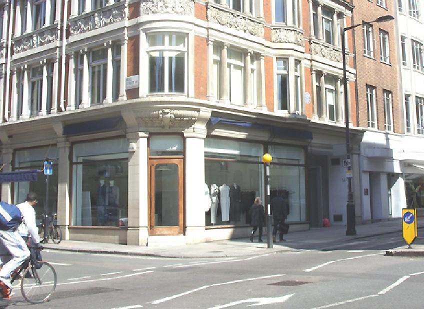 Yohji Yamamoto shop in London's Mayfair