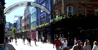 Fashion shops on London's Carnaby Street
