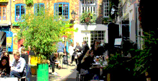 Cafes in Neals Yard in London's Seven Dials