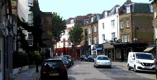 shops on Cross Street in London's Islington
