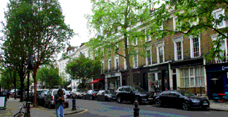 Photo of Ledbury Road shops in Notting Hill near Portobello