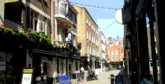 Fashion shops on Newburgh Street in Londons Carnaby