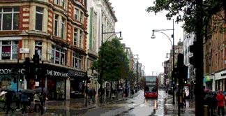 Shops on Londons Oxford Street near Bond Street station