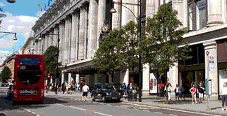 Selfridges store on London's Oxford Street