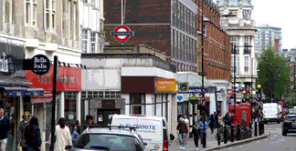 Photo of Queensway shops with Bayswater tube station