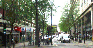 Street photo of Queensway shops in London's Bayswater