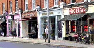 Chelsea Kings Road in London for shops and restaurants