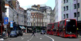 Shoreditch High Street in London bars and restaurants