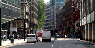 View along Victoria Street in London