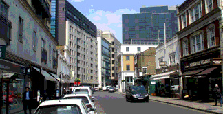 Shops and restaurants on Wilton Road in London's Victoria