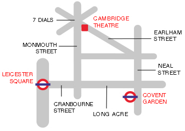 Cambridge Theatre Map The Cambridge Theatre in London