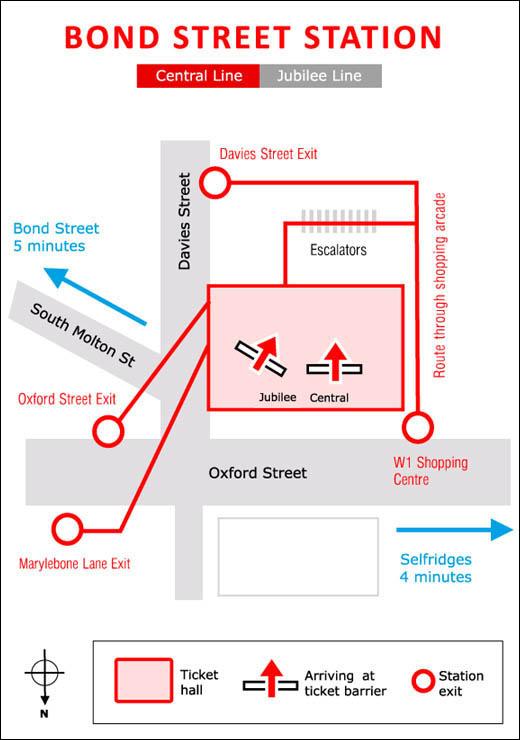 Bond Stree tube station exits