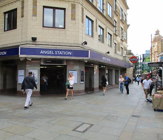 Angel train station at Angel in London's Islington