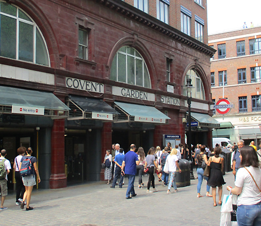 Covent Garden station exit on James Street