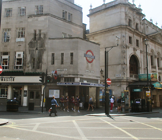 Leicester Square tube station exit one