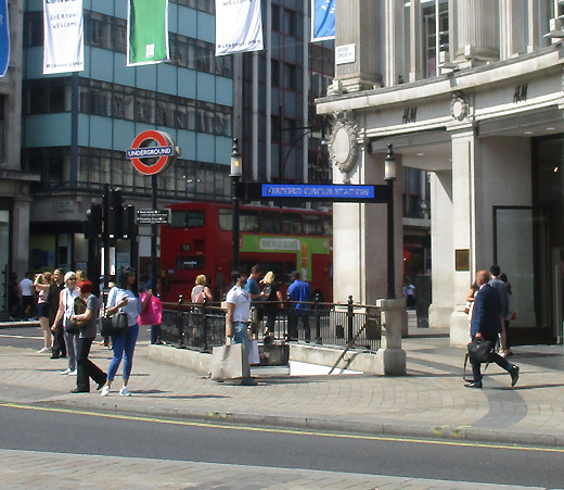 Oxford Circus tube station exit number four