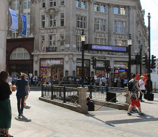 Plan Of Oxford Circus Underground Station Exits