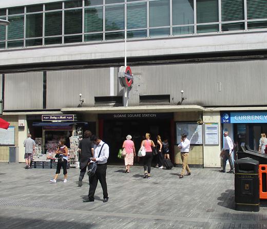 Sloane Square tube station exit at Sloane Square