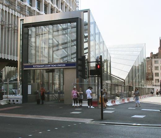Tottenham Court Road underground station exit number three