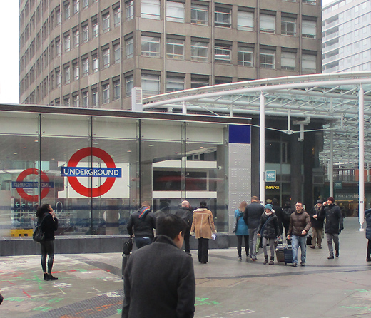 Victoria tube station exit at Cardinal Place