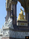 Gold statue of Prince Albert in London